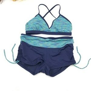 ATHLETA SWIMWEAR TWO PIECE SET SIZE SMALL